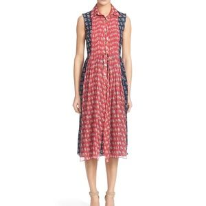 DVF Floral Sleeveless Floral Midi Dress